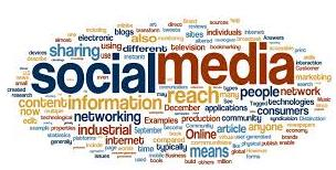 social media nube etiquetas